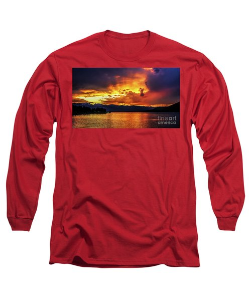 Hebgen Lake Sunset Long Sleeve T-Shirt