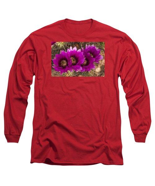 Hedgehog Lineup Long Sleeve T-Shirt by Laura Pratt