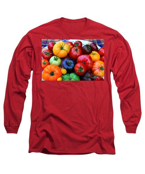 Heirloom Tomatoes Long Sleeve T-Shirt by Vivian Krug