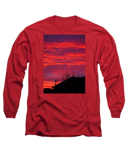 Long Sleeve T-Shirt featuring the photograph Hell Over Ontario by Valentino Visentini