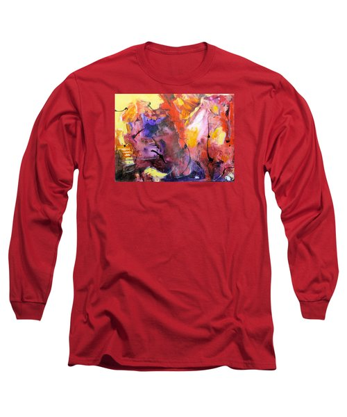 Hes Fire Mountain Long Sleeve T-Shirt