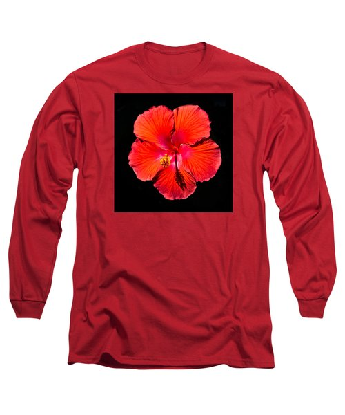 Hibiscus Flower Long Sleeve T-Shirt by Kenneth Cole