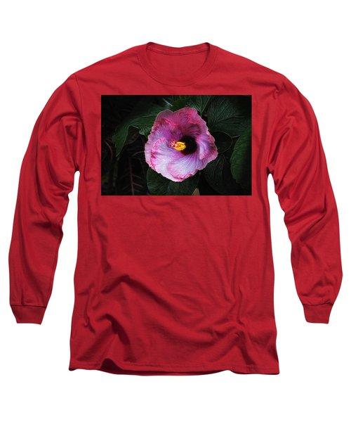 Hibiscus Flower Long Sleeve T-Shirt