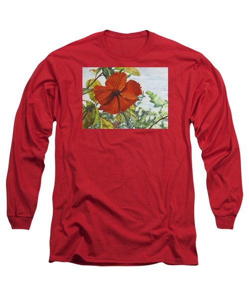 Hibiscus St Thomas Long Sleeve T-Shirt