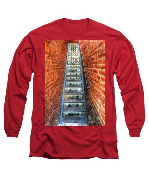 Hidden Stairway In Old Bisbee Arizona Long Sleeve T-Shirt