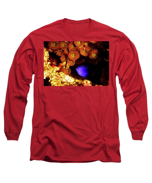 Long Sleeve T-Shirt featuring the photograph Hiding Damsel by Anthony Jones