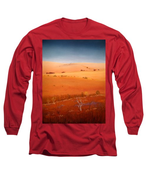 High Plains Hills Long Sleeve T-Shirt by William Renzulli