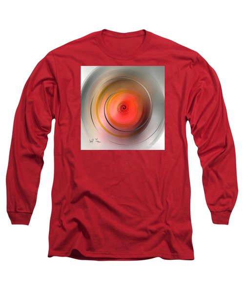 Long Sleeve T-Shirt featuring the digital art High Speed Rotation by Leo Symon