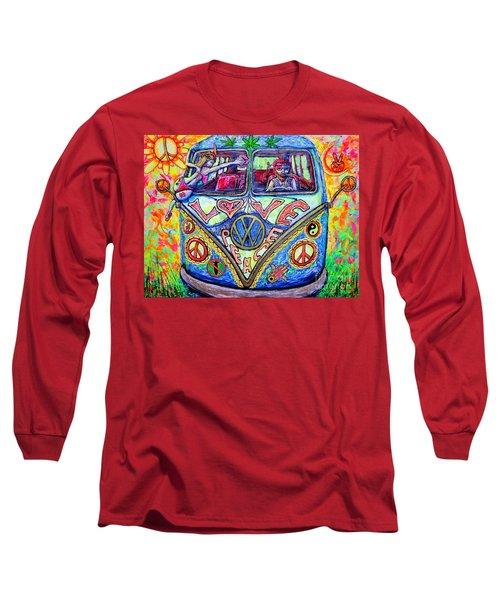 Hippie Long Sleeve T-Shirt by Viktor Lazarev