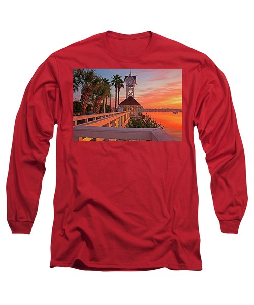 Historic Bridge Street Pier Sunrise Long Sleeve T-Shirt