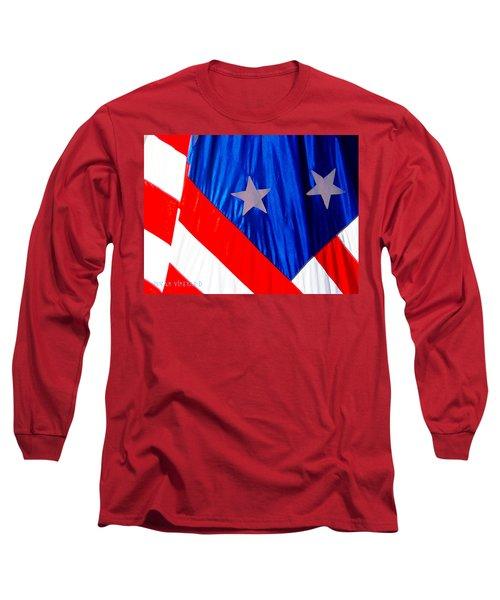 Historical American Flag Long Sleeve T-Shirt