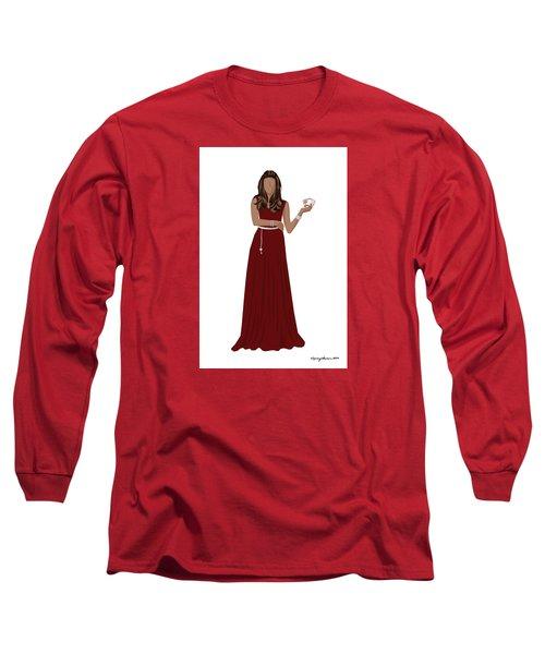 Long Sleeve T-Shirt featuring the digital art Hoda by Nancy Levan