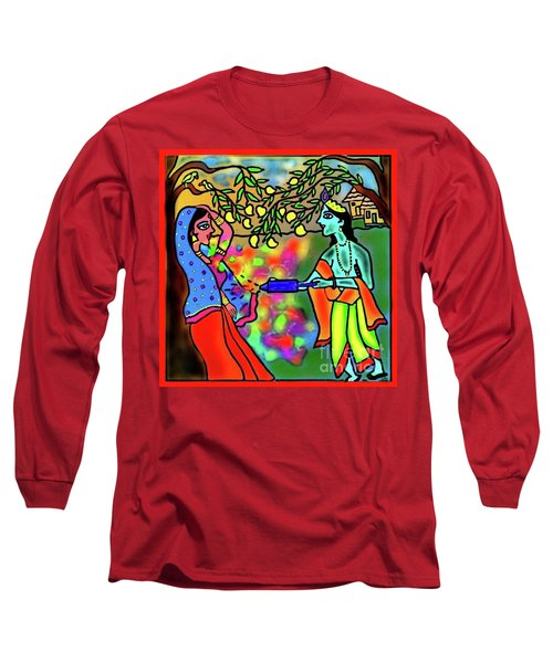 Holi Long Sleeve T-Shirt by Latha Gokuldas Panicker
