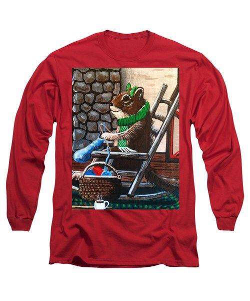 Holiday Knitting Long Sleeve T-Shirt