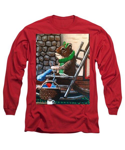 Holiday Knitting Long Sleeve T-Shirt