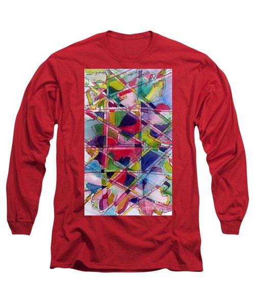 Holiday Rush Long Sleeve T-Shirt by Jan Bennicoff