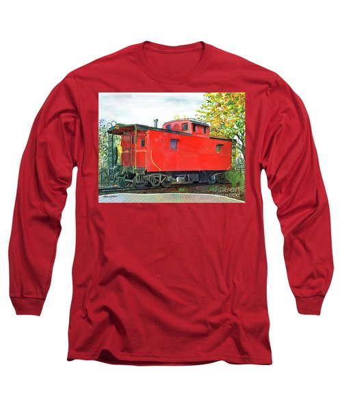 Holland Michigan Caboose Long Sleeve T-Shirt