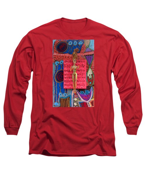 Long Sleeve T-Shirt featuring the painting Holy Basil Herbal Tincture by Clarity Artists