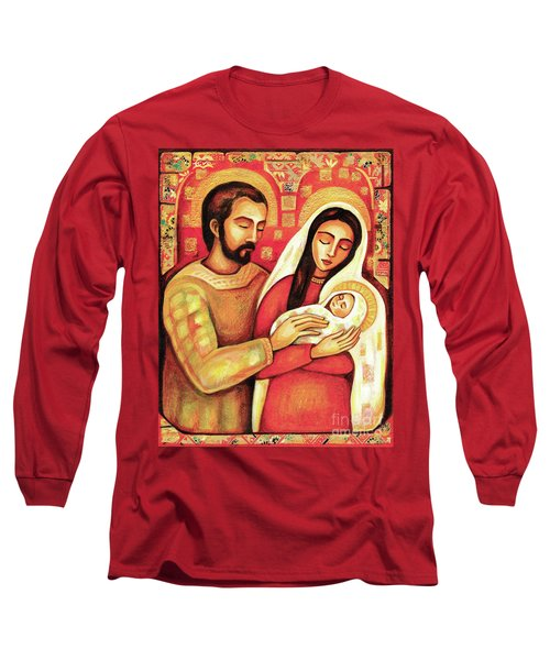 Long Sleeve T-Shirt featuring the painting Holy Family by Eva Campbell