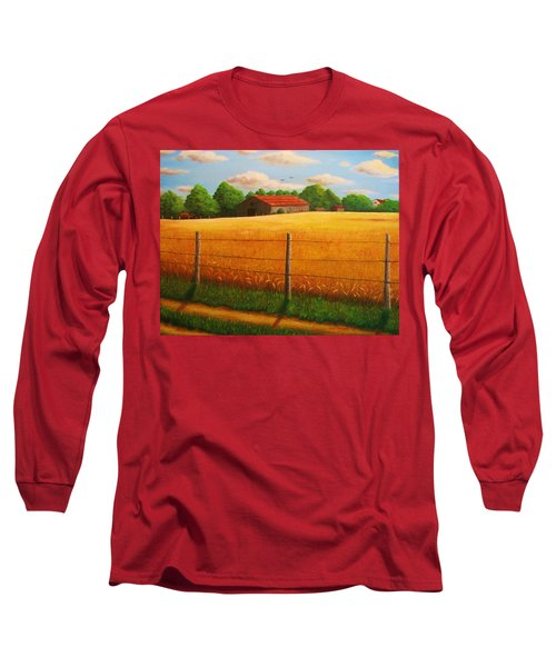 Home On The Farm Long Sleeve T-Shirt by Gene Gregory