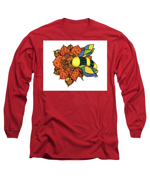 Honeybee On A Flower Long Sleeve T-Shirt