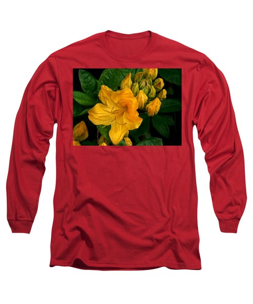 Honeysuckle Azalea Long Sleeve T-Shirt by Karen Molenaar Terrell