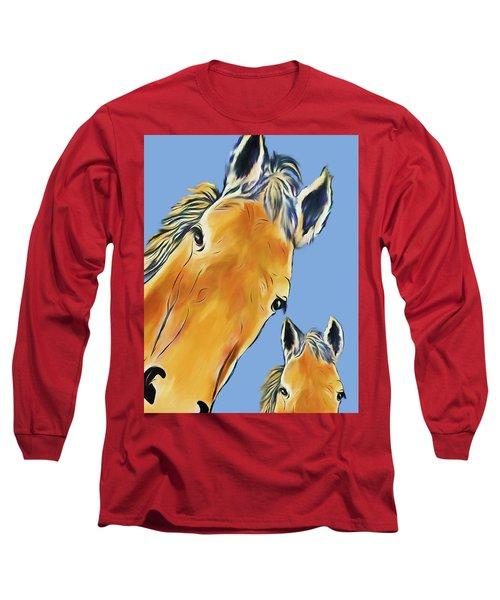 Horse Heads Long Sleeve T-Shirt