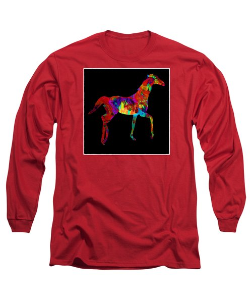 Horse Long Sleeve T-Shirt by James Bethanis