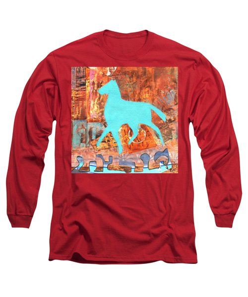 Horse Remix Long Sleeve T-Shirt by Patricia Cleasby