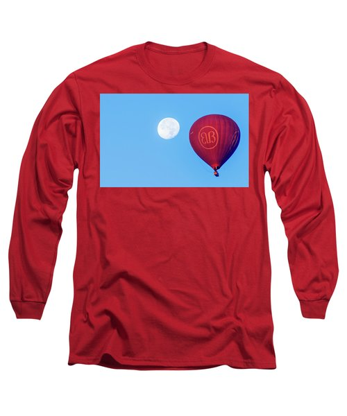 Hot Air Balloon And Moon Long Sleeve T-Shirt