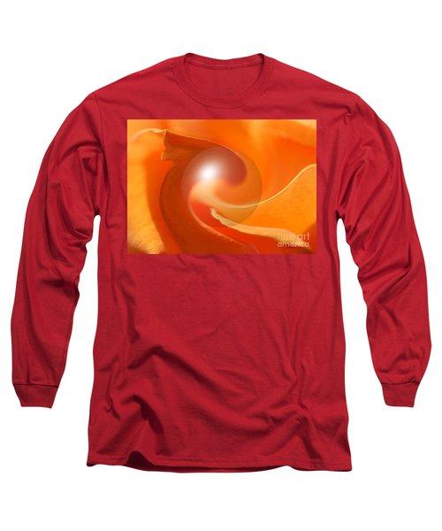 Hot Orange Globe Long Sleeve T-Shirt