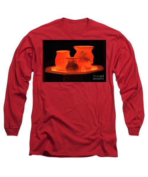 Long Sleeve T-Shirt featuring the photograph Hot Pots by Skip Willits