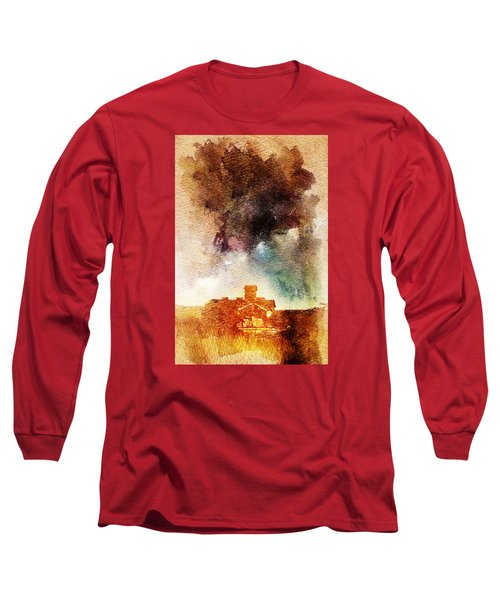 House And Night Long Sleeve T-Shirt by Andrea Barbieri