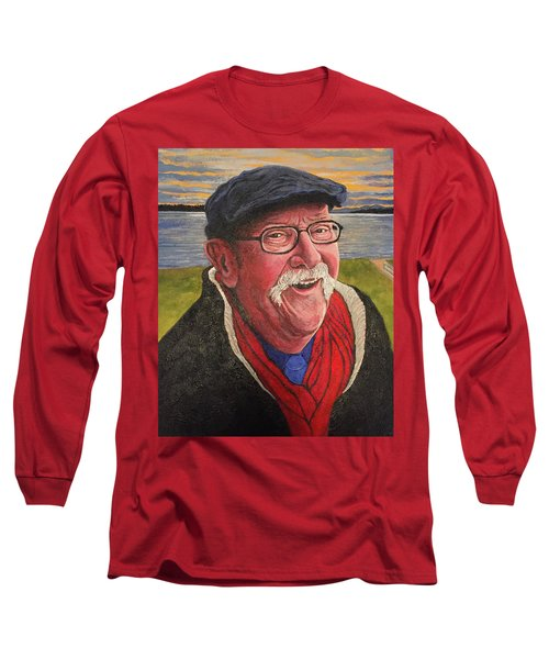 Long Sleeve T-Shirt featuring the painting Hugh Hanson Davidson by Tom Roderick