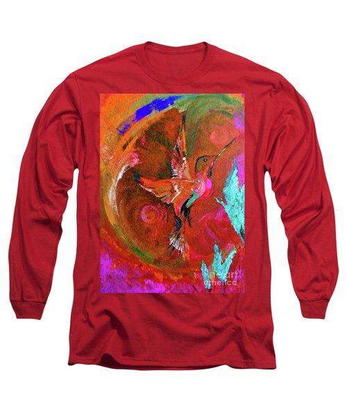 Hummingbird Long Sleeve T-Shirt by Lisa Kaiser