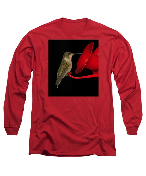 Long Sleeve T-Shirt featuring the photograph Hummingbird Nightcap 2 by Phyllis Beiser
