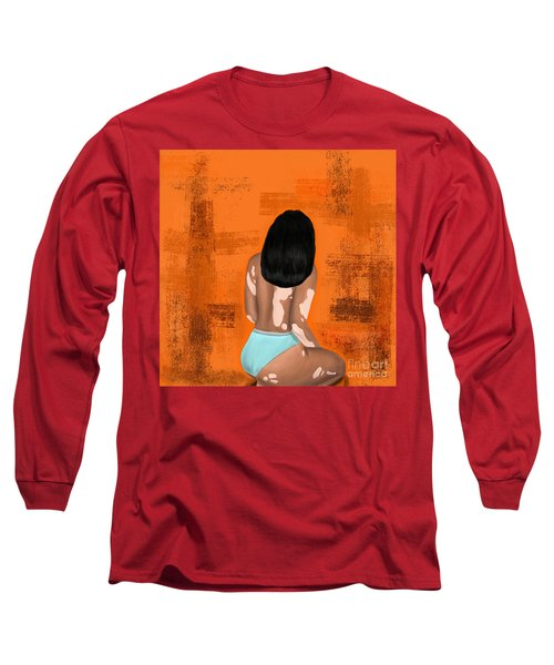 Long Sleeve T-Shirt featuring the digital art I Am Enough by Bria Elyce
