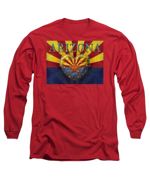 I Love Arizona Flag Long Sleeve T-Shirt by James Larkin