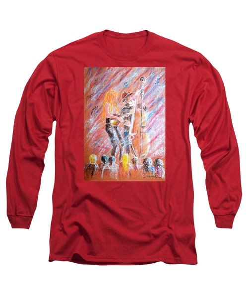 Long Sleeve T-Shirt featuring the painting I Love Bluegrass by Bill Holkham