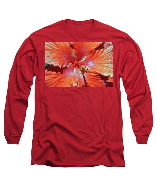 I Love Orange Flowers 2 Long Sleeve T-Shirt by Lydia Holly