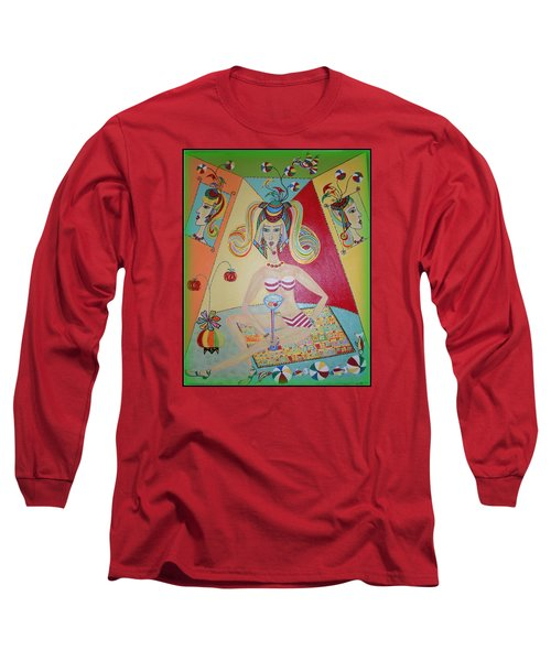 I Love This Cherry Long Sleeve T-Shirt by Marie Schwarzer