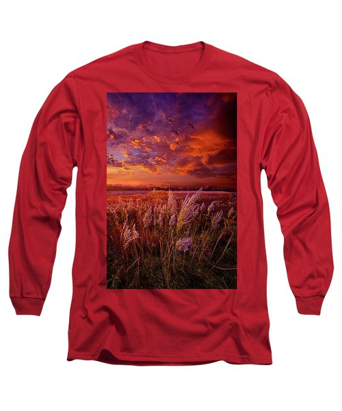 Long Sleeve T-Shirt featuring the photograph I Spoke To God Today by Phil Koch