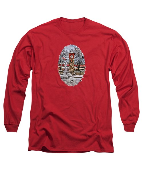 Long Sleeve T-Shirt featuring the photograph Ice Cold Holiday by DJ Florek