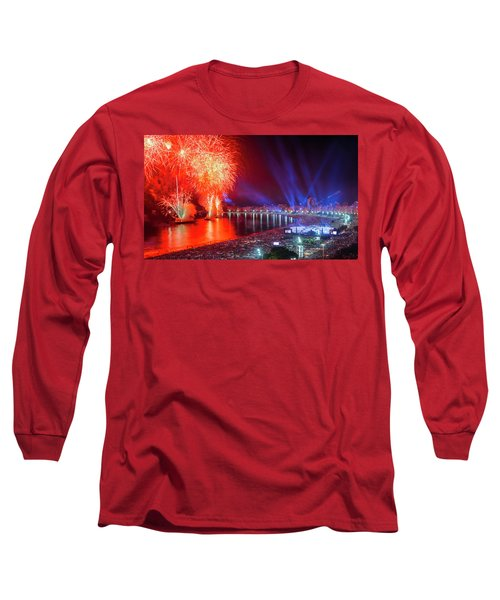 Iconic And Breath-taking Fireworks Display On Copacabana Beach,  Long Sleeve T-Shirt