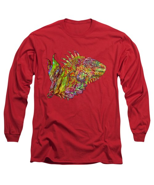 Iguana Hot Long Sleeve T-Shirt by Carol Cavalaris