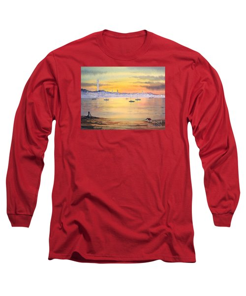 Long Sleeve T-Shirt featuring the painting Impressions Of Provincetown by Bill Holkham