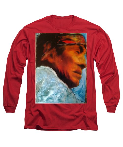 Long Sleeve T-Shirt featuring the painting In Cool Clear Waters by FeatherStone Studio Julie A Miller