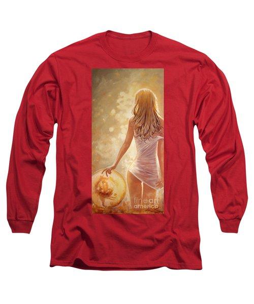 In Fields Of Summer Gold Long Sleeve T-Shirt