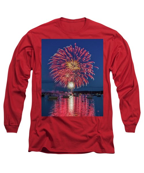 Independence Day Fireworks In Boothbay Harbor Long Sleeve T-Shirt