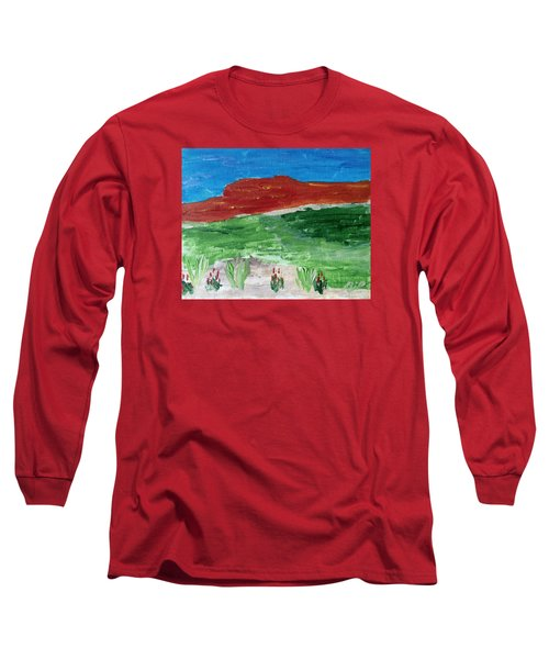 Indian Paintbrush Under A Midday Sun Long Sleeve T-Shirt by Brenda Pressnall